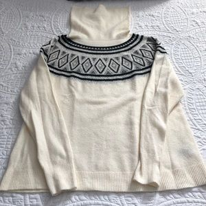 EUC Cream Black & Silver Sweater